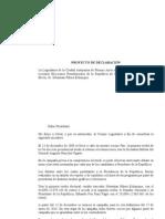 Declaración -  beneplácito por las Elecciones Presidenciales de Chile