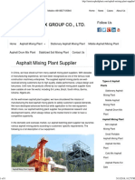 Asphalt Mixing Plant Supplier