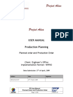 PP Usermanual Planned Order Production Order