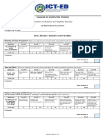 Exit Project Evaluation Rubric