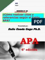 CITAS Y REFERENCIAS SEGUN EL ESTILO APA.ppt