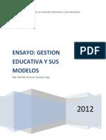 Ensayo Gestion educativa y sus modelos