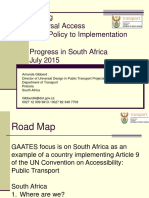 South Africa From Policy to Implementation