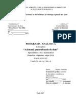 Programa Analitica Asistenta BD