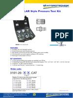 Caterpillar Style Pressure Testing Kit 3101-20-49-CAT