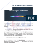 Diet and Exercise During Ramzan