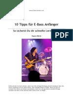 10 Tipps Zum E Bass Lernen