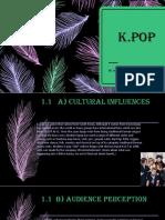 kpop music presentation