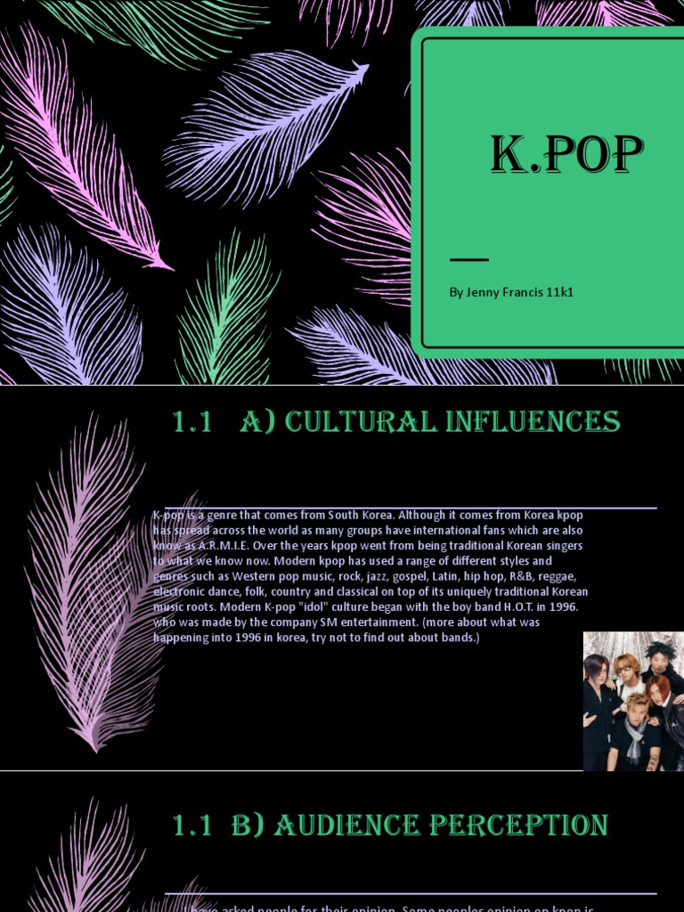 kpop music presentation | Performing Arts | Popular Music