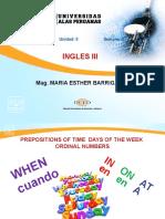 Ayuda Semana 5 Prepositions of Time