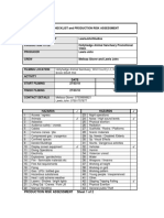 risk assessment sheets