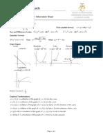 TCE Mathematics Methods Foundation External Exam Information Sheet 2018