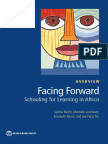 WB (2018) Facing Forward_Schooling for Learning in Africa_overview