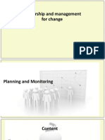 Planning and Monitoring