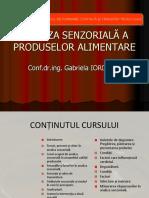 ANALIZA SENZORIALA  - C1