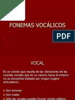 Fonemas Vocalicos