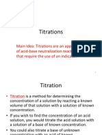 1. Titrations