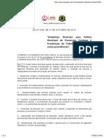 Lei Ordinária 2356 2016 de Porto Velho RO