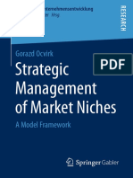 Strategic Management of Market Niches a Model Framework