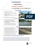 Ficha de Dicas de Segurança Rodoviária - MCD