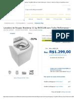 Lavadora de Roupas Brastemp 11 Kg BWJ11AB Com Turbo Performance – Branca - Acima de 10 Kg No CasasBahia.com.Br
