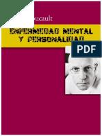 Michel Foucault - Enfermedad MEntaL y PersonalidaD