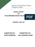 Tie Dye Project Report