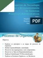 Proc. Adm - Aula 6 - Processo de Organização - NOVO