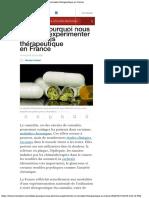 Débat Pourquoi Nous Devrions Expérimenter Le Cannabis Thérapeutique en France