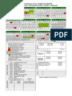 Calendário Escolar 2018 - EJA