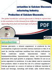 Investment Opportunities in Calcium Gluconate Manufacturing Industry.