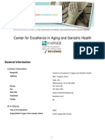 Center for Excellence in Aging and Geriatric Health-Report