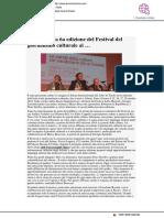 Al salone del Libro presentata la VII edizione del Festival del Giornalismo Culturale - Donna Charme.com, 14 maggio 2018