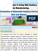 Low-Cost Project to Setup Mini Sanitary Napkin Manufacturing