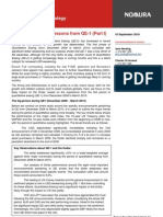 Nomura QE&USD Lessons From QE-1 (Part I) 2010-09-10