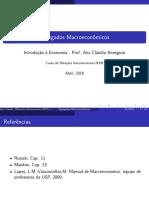 11. Agregados Macroeconômicos e o Sistema de Contas Nacionais