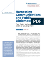 Harnessing Communications and Public Diplomacy