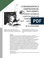 1186 La Enunciacion en La Construccion Del Texto Escrito Formulacion Conceptual y Pertinencia en Una Investigacion Sobre Cultura Escritapdf Cs4rM Ar