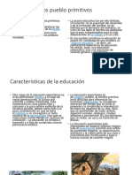 Educación en Los Pueblo Primitivos