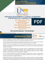 Presentacion Propuesta de Control de Contaminantes Atmosfericos Otega