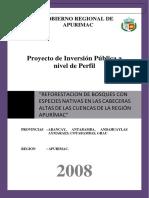 Formulción Perfil Final de Reforestacion