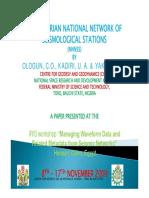 Siesmic Network Nigeria