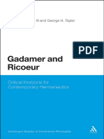 [Continuum Studies in Continental Philosophy] Gadamer, Hans-Georg_ Ricœur, Paul_ Gadamer, Hans-Georg_ Ricœur, Paul_ Mootz, Francis J._ Taylor, George Howard - Gadamer and Ricoeur _ Critical Horizons for Contempora