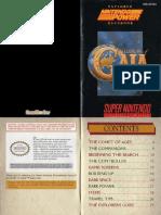 Illusion of Gaia - SNES - Manual