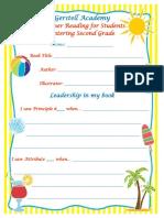 summer reading second grade