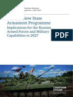 Russia State Armament Programme Connolly Boulegue