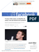 Trump e Fake News_ Os Detalhes Da Maior Crise Da História Do Facebook - Notícias - R7 Tecnologia e Ciência