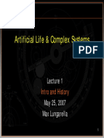 Lecture 1 Artificial Life