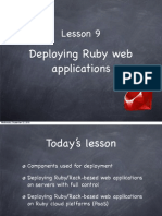 Ruby Course - Lesson 9 - Deploying Ruby Web Applications