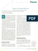 Microbial Production of Natural Flavors